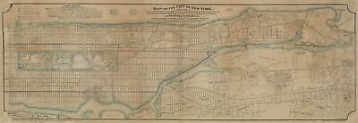 1869 Ewen / Towle Map of Manhattan, New York City, North of 55th St.