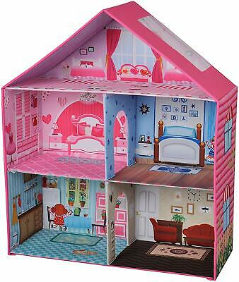 Beverly Hills Deluxe Family Doll House, Fold-able with 3 Stories and 5 Rooms