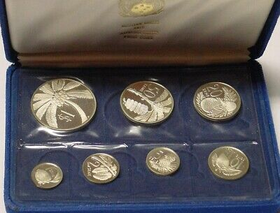 Western Samoa 1974 silver Proof set in box of issue.