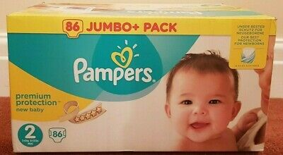 Pampers Size 2 Mini Nappies Premium Protection pack of 86