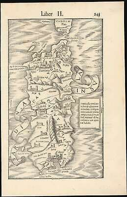 1554 Munster Map of Sardinia