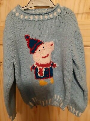Peppa Pig Handknitted  Jumper Age 8-9 Years