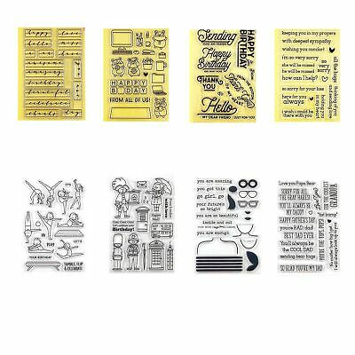 Greeting Clear Stamps Metal Cutting Dies Stencil For Diy Scrapbooking Paper Card