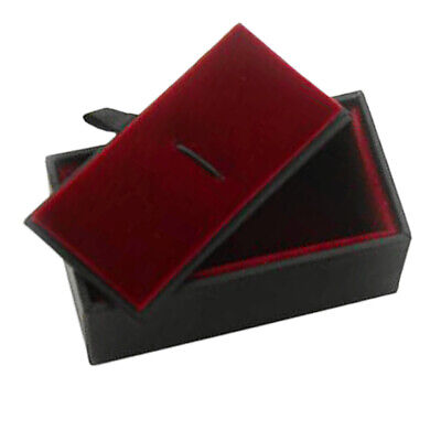 Black Gift Box Men Jewelry Case For Tie Clip Collar Bar Storage Display Box