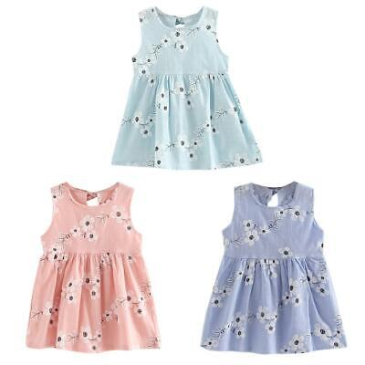 Sweet Fashion Summer Girls Kids Morning Glory Floral Sleeveless Vest Dress NEW