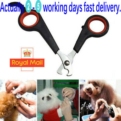 Pet Nail Clippers Dog Cat Rabbit Bird Guinea Pig Easy Claw Trimmers Scissors W