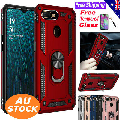 For OPPO A3s/Ax5/a5/A5s/Ax7/Ax5s Heavy Duty Shockproof Case Stand Tough Cover
