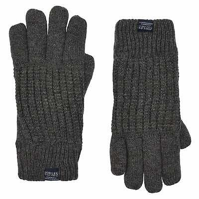 Joules Bamburgh Knitted Gloves - Grey All Sizes