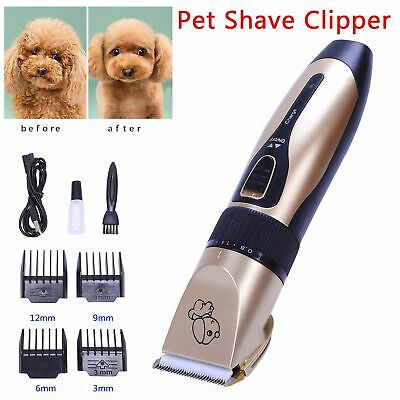 Electric Pet Dog Shaver Clipper Hair Low Noise USB Cordless Grooming Trimming UK