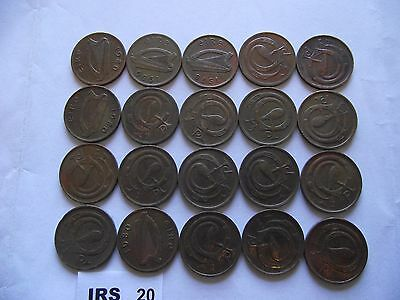 Ireland (Éire). 20 Coins@ Half Penny. Better Condition (1971-1982)#Irs20