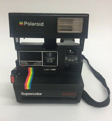 Polaroid 635 CL Supercolor Instant Film Camera 80s Vintage Retro (E3)