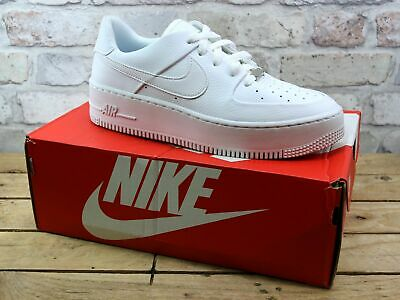 WOMENS NIKE AIR Force 1 Sage White Leather Sports Retro