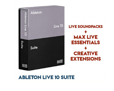 [WIN ] Ableton Live 10 Suite + Sound Packs + Max For Live Essentials