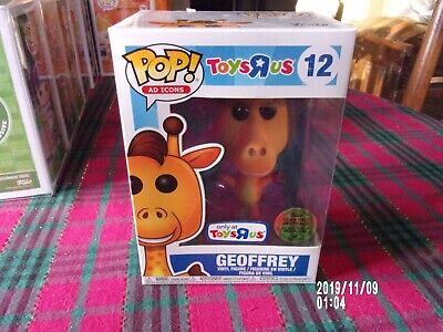 Funko Pop # 12 Geoffrey Toys R Us Golden Ticket Open Box Collectible Ad Icons