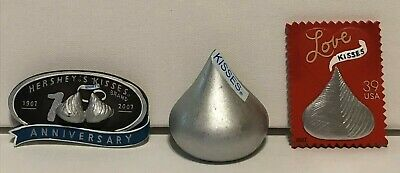 Lot of 3 Hershey's Kisses 100th Anniversary Magnets 2007