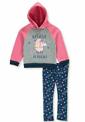 Peppa Pig Girls' Believe in Magic 2-Piece Leggings Set Outfit
