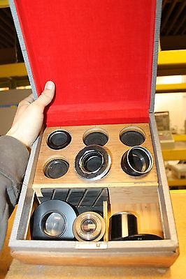 LOT OF 8 Leica Leitz Sp Reflex LENSES MICROSCOPE PARTS