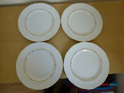4 Royal Worcester Gold Chantilly Dinner Plates - Last 4 left!