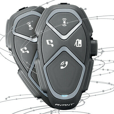 Interphone Avant Twin Pack  Bluetooth,quality music & GPS Directions TP
