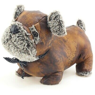 Weighty Antique Pals Brown & Cream Pug Door Stop: 30x15x23cm; Home Decor