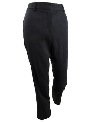 Tahari ASL Women's Straight-Leg Ankle Pants (8, Black)