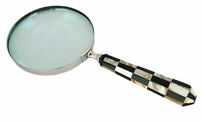 Brass Vintage Magnifying Glass Handheld Magnifier Nautical Tabletop Decor Gift