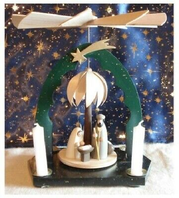 Small Nativity Pyramid 2 Tier + Figures & Candles