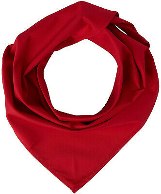 Stalwart A054 Red Neckerchief, 100% Cambric Cotton, Size: 36' x 25'