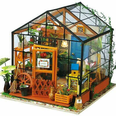 Dollhouse For Doll Robotime 3D DIY Wooden Puzzle Miniature Furniture Building Mo