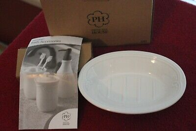 L 3201 Princess House Meridian Porcelain Bath Accessories Soap Dish NIB
