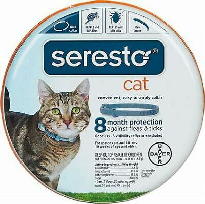 Bayer Seresto Flea and Tick Collar for Cats 8 Month