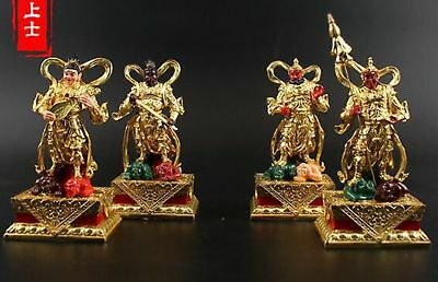 Collectable Resin Four Heavenly Kings Buddha Statue Buddhist Dharma Protector