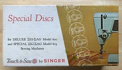 Vintage Boxed Singer Special Discs For Zig-Zag 600 & 603 Sewing Machines