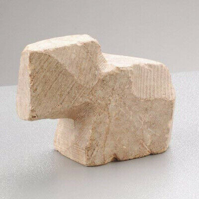 Efco Soapstone Elephant Unfinished, Cream