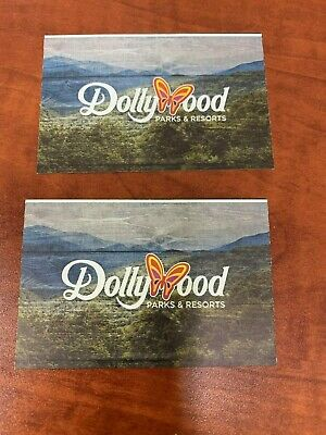 Lot of 2 Dollywood Theme Park Tickets-Bring a Friend Passes June 13-July 3 2020
