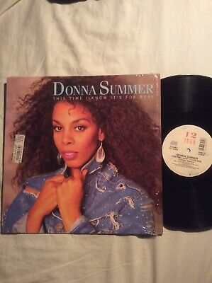 "Donna Summer 12"" Mix Vinyl This Time I Know It's For Real 1989 Atlantic Not CD"