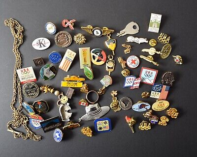 Lot of Pins, Findings, Collectibles, Wearable, Crafting, Embellishment Harvest