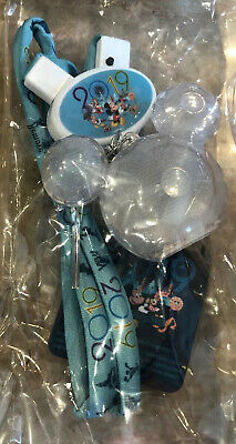 NEW Disney Parks Mickey Icon Light Up Glow Necklace Crystal Mickey 2019 Lanyard