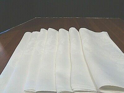 Collection of 7 Large Antique napkins matching