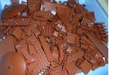 Lego lot .... 2 lbs  BROWN Color PARTS...  variety of pieces
