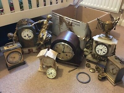 antique clocks for restoration Marble Henry Marc Paris Mantle Carriage Pick Up