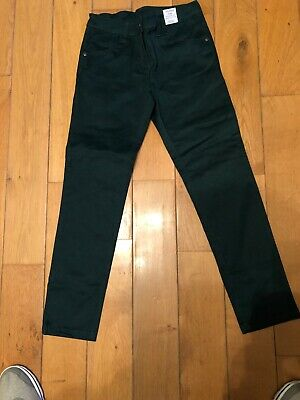 BNWT Girls 9 Yrs Next Green Trousers Jeans Adjustable Waist