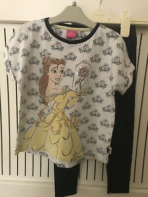 Girls Age 5-6 Years Disney Belle Outfit Top And Leggings