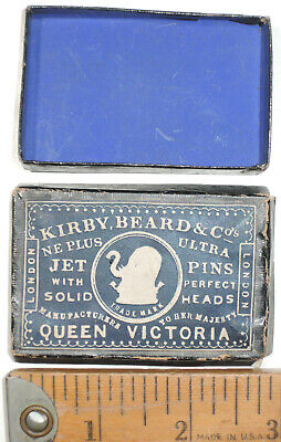 Kirby, Beard & Co. Straight Jet Pin Box For Queen Victoria