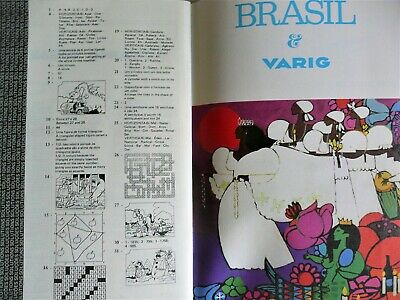 Brazil Varig Airline In-Flight Activity Entertainment Book English & Portuguese