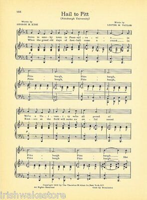"""STANFORD UNIVERSITY Sports Song c1906 /""""A Football Song/"""" Original"""