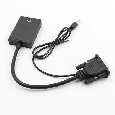 VGA Male To HDMI Output +Audio TV AV HDTV Video Cable Converter Adapter 1080P HD