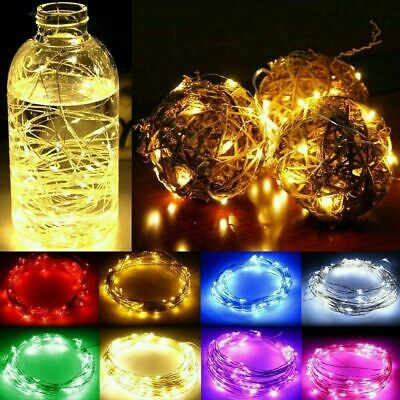 UK Battery Operated Micro Rice Wire Copper LED String Fairy Lights Party Decor