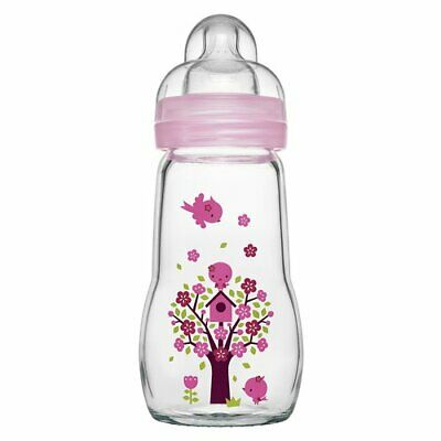 Babyflasche Feel Good 260 ml, Glas, ab 0M
