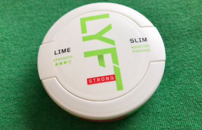 5 Dosen Lyft Strong Lime All White Chewing Bags Snus Tabacco Snuff